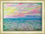120.모네 - 바다 한가운데, 푸르빌 태양의 침상