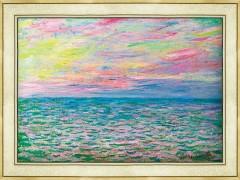 모네 - 바다 한가운데, 푸르빌 태양의 침상